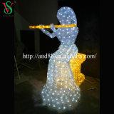 Luz ao ar livre do motivo do anjo da escultura