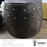 Hongdao quemado personalizados de madera de color café o té Mayorista de barril_F