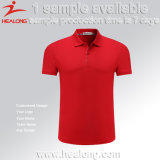 Healong Form-Entwurfs-Sportwear kundenspezifisches Sublimation-Polo-T-Shirt