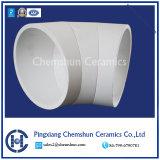 95%d'alumine doublure en céramique de coudes pour chemise d'usure dans le tube