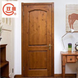Porte d'intérieur simple nord-américaine en bois solide de salle de séjour d'étude sur l'environnement