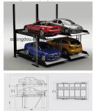 Simple Car Garage 2 Level Parking Lift for 4 Cars