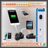 Bewegliche Solar-LED-Notleuchte mit 1W Taschenlampe, USB (SH-1904A)
