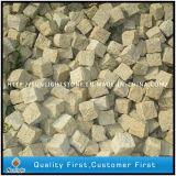 Pavers do Cobblestone do granito do ouro do por do sol G682/do concreto pedra de pavimentação