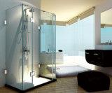 Montagem em Parede cromado polido chapa traseira completa da dobradiça da porta de duche