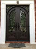 Художнические Рук-Выкованные двери входа фронта утюга круглой верхней части