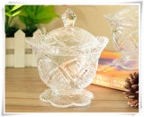 가정 Storage Glass Candy Bowl 및 Sugar Bowl