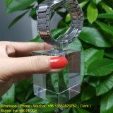 Acryliques clairs choisissent le présentoir de montre avec la boucle de C