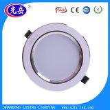 Corps en aluminium Downlight LED 5 W/LED lumière au plafond avec une bonne dissipation de chaleur