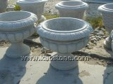 De populaire Decoratieve Potten van de Planter van de Bloem van de Vaas van het Graniet voor Tuin