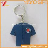 Le trousseau de clés doux en caoutchouc de PVC promotionnel le meilleur marché (YB-LY-K-03)