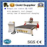 Furnierholz des Standardmodell-Ql-1325A, das CNC-Fräser für Stich-Ausschnitt-Bohrung schnitzt