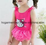 Swimsuit для девушок, Swimwear симпатичного голубого печатание двухкусочный Бикини малышей
