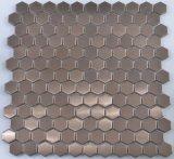 La cucina 2017 copre di tegoli disegni del mosaico dell'acciaio inossidabile i nuovi