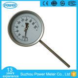 100mm Qualitäts-bimetallisches Thermometer-Edelstahl-Temperatur-Anzeigeinstrument