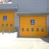 Промышленным раздвижная дверь изолированная восходящим потоком теплого воздуха моторизованная Multi секционная вертикальная