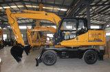 La certificazione del Ce Doppio-Guida l'escavatore della benna della rotella da vendere nel Regno Unito