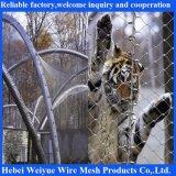 Acoplamiento del balcón de la escalera de los animales del parque zoológico de la cuerda del cable del acero inoxidable