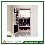 Gabinete de armazenamento de espelho de jóias com moldura de parede com moldura de foto