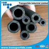 Boyau hydraulique spiralé à quatre fils à haute pression d'En856 DIN 4sp