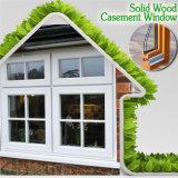 グリルデザインの高品質の純木の開き窓のWindows、完全なアルミニウム赤いOaken木製の開き窓Windows