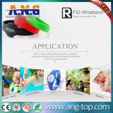 イベントのためのLf RFIDのリスト・ストラップ、Tk4100チップシリコーンの防水ブレスレット