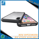 Caja de acrílico transparente del teléfono de la alta calidad para el iPhone 8