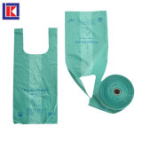 Green Custom Compostable Plastic Doggie Waste Bags one Roll