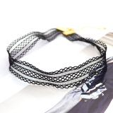 De nieuwe Halsband van de Nauwsluitende halsketting van het Kant van Elastica van de Juwelen van de Manier van het Ontwerp Zwarte