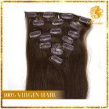 사람의 모발 연장 자연적인 브라질 Virgin 머리에 있는 아프리카계 미국인 클립