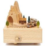 Деревянная коробка нот для подарка