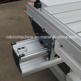 Panneau de table coulissante en bois a vu la machine