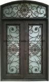 旧式なデザインカスタム機密保護の倍の錬鉄の出入口