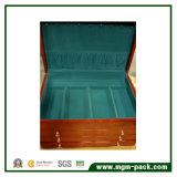 Alta qualidade de acabamento espelhado jóias de madeira Caixa de Armazenamento