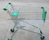 Carro de compra da mão do uso do supermercado da qualidade superior