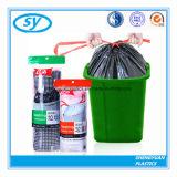 Bolso de basura plástico del lazo de la venta caliente