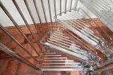 Raumersparnis-Edelstahl-gewundenes Treppenhaus-Glasinstallationssätze