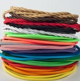 Buntes Textilumsponnenes elektrischer Draht-Leistung-Kabel