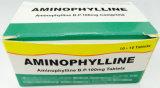 Tablettes du point d'ébullition 100mg d'aminophylline