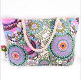 Sacs à main de corde de coton de sac à main de toile de sac de loisirs de sacs à main de sac d'épaule de tissu de mode