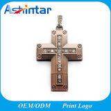Cruz de la memoria Flash USB memorias USB Pendrive USB de metal