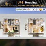 Einfache Installations-ökonomisches Fertighaus bringt Kosten mit mit drei Schlafzimmern unter