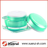 Vaso acrilico cosmetico di figura quadrata per l'imballaggio cosmetico