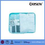 8 cubos ajustados da embalagem com saco da sapata - organizador da bagagem do curso da compressão