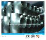 Te inconsútil recta del igual de la instalación de tuberías del acero de aleación Wp5 Wp9