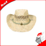Chapéu de palha Chapéu Seagrass Chapéu de palha ocidental de vaqueiro