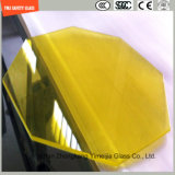 手すり、階段ステップ、区分のためのSGCC/Ce&CCC&ISOの証明書が付いている4.38mm-52mm明確な白くか灰色か青か黄色いですまたは青銅色PVB薄板にされたガラス