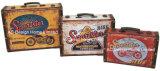 PU Leather/MDF 나무로 되는 저장 여행 가방 상자를 인쇄하는 S/3 훈장 앙티크 포도 수확 모터바이크 디자인