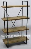 4 memorie di legno dell'annata della fila/del metallo decorative antiche mensola