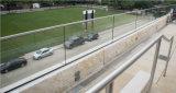 Balaustra bassa di alluminio di vetro del balcone di Frameless del pattino di U